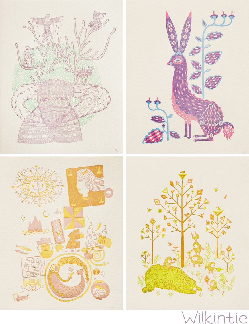 Wilkintie Letterpress Prints
