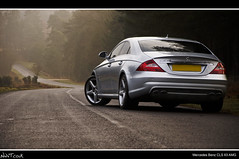 Mercedes Benz CLS 63 AMG Low Rear Quarter Shot Looking Down The Twisty Road (NWVT.co.uk) Tags: road new morning trees sun forest silver dawn mercedes benz early photographer looking shot low rear january foggy down automotive 63 quarter rays twisty amg freelance 2010 cls the at lightthrough of nwvtcouk nwvt