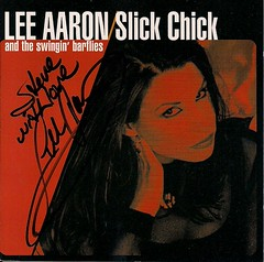 2000 Lee Aaron and the Swingin' Barflies - Slick Chick CD Booklet (Autographed)