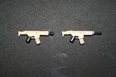 scar v.2 and scar v.2 shorty version (kenneth nielsen a.k.a Qenhyt) Tags: mod paint lego military version games workshop ba scar v2 mods shorty brickarms