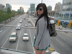 metroo (kelly mcl) Tags: street bridge trees urban sun green cars nature girl look wasted vancouver vintage mall shopping hair walking asian outside japanese grey glasses fan town high long ray metro you brothers skirt gucci busy purse american hype olympics ban miss jonas swag cardigan apparel 2010 outfitters