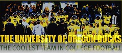 THE COOLEST TEAM IN COLLEGE FOOTBALL (Version 2) (Michael Lechner) Tags: college home sports oregon football stadium ducks eugene ncaa picnik eugeneoregon oregonducks collegefootball autzen collegesports pac10 division1 autzenstadium oregonducksfootball mightyoregon ducksspirit wsuvsoregon