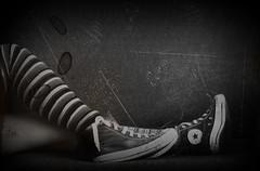 tante simpatiche e irritanti persone sopra i divani spettegolano stronzamente tra loro sorseggiando il sorseggiabile.  [25/365] (.il Nulla di Me.) Tags: blackandwhite bw italy woman selfportrait home me girl socks canon myself book casa donna shoes italia legs body cut stripes libro bn taglio sofa converse crop writer autoritratto divano chucks biancoenero corpo pp autoscatto ragazza righe destroy selfshot gambe calze selfie postprocessing strisce scrittore citazione isabellasantacroce scrittrice artemisiapix