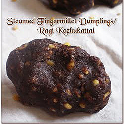 Sharmilee's Ragi Sweet Dumplings