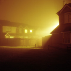 Houses (RobSalmon) Tags: houses homes light colour 120 robert film yellow fog night square photography daylight nice natural kodak yorkshire salmon rob east peoples negative nighttime bronica format hull sq portra sodium vapour sqa 160nc 6c6 kingsood