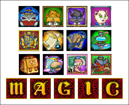 free Magic Spell slot game symbols