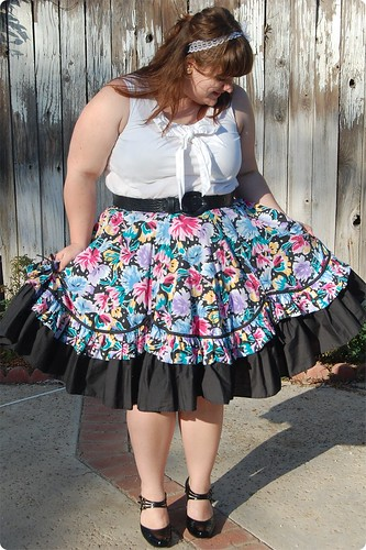 Twirly-gig Square Dance Skirt