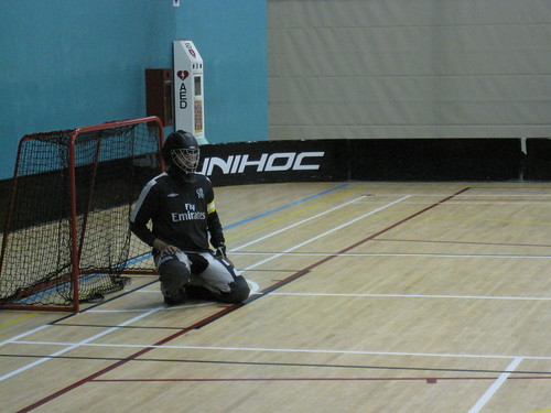 Guarding the goal back in January 2010