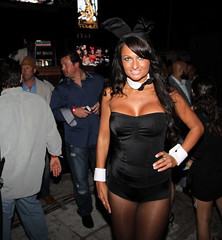 The beautiful Playboy bunny Estefania (kjdrill) Tags: world travel party usa beach sports hotel football championship florida miami week superbowl southbeach 807 blackeyedpeas sagamore playboyparty