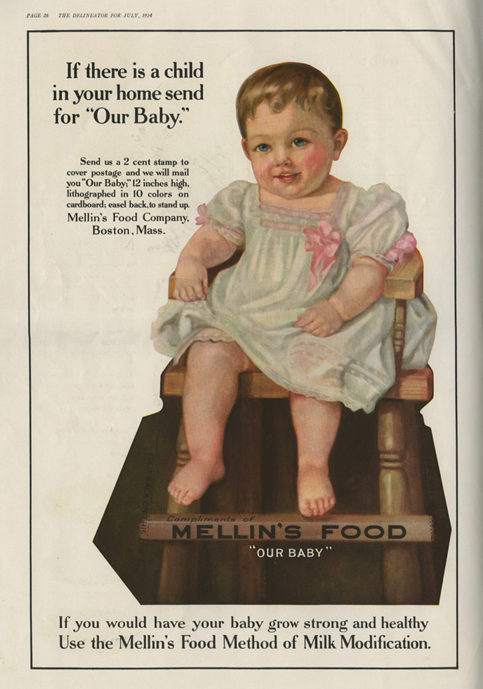Mellin's Food paper doll ad_July1914_tatteredandlost