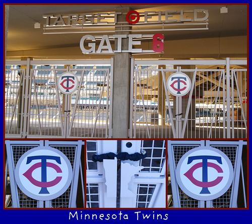 target field logo. Gates of Target Field