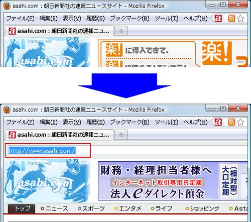 表示しているページのURLを簡単取得