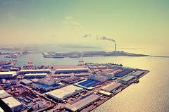 Bird's view (y2-hiro) Tags: sea sky sunlight landscape nikon factory d300
