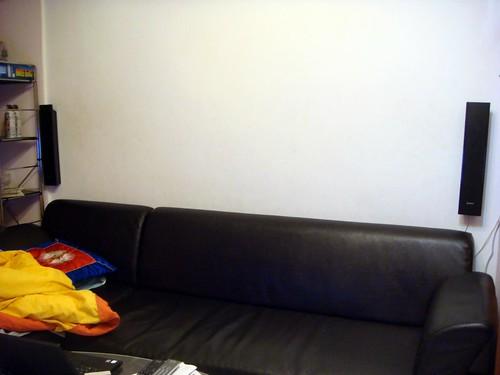 客廳後面壁掛後置環繞喇叭