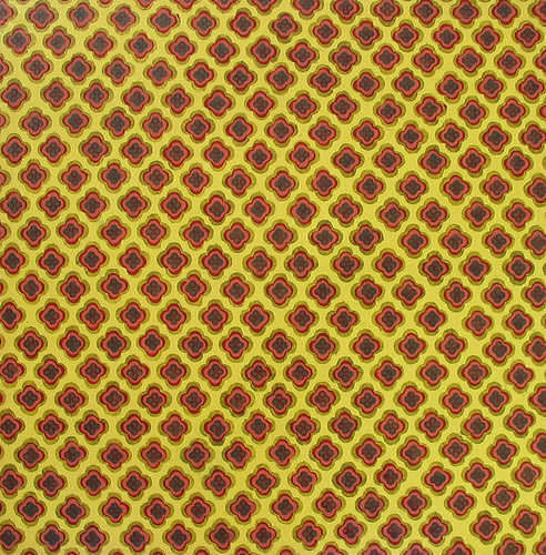 Yellow Pattern, Acrylic & Oil on Canvas, 31cm x 31cm by Robin Clare