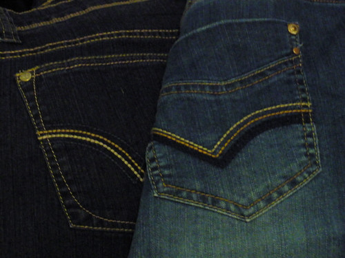 Two pairs of cheapo jeans