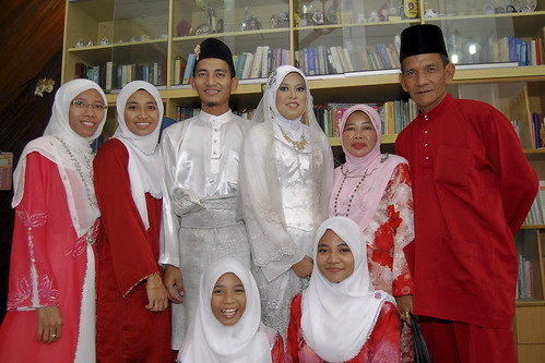 My family in red