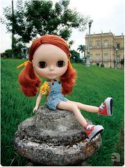 Enquanto Rebecca só aprontava explorando a Quinta da Boa Vista
