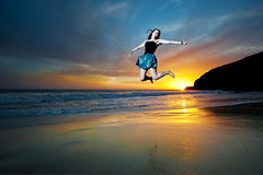 You might as well JUMP! (Extra Medium) Tags: sunset beach senior girl carina malibu highschool pch secretspot
