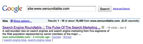 Google Indexed Pages