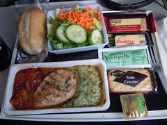 Delta Airlines Chicken dinner AMS-PDX (orclimber) Tags: food dinner plane airplane delta pasta airline meal airlines amspdx