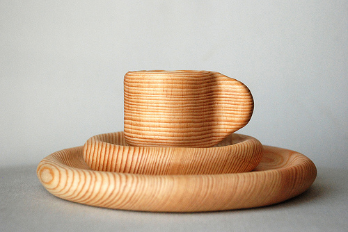 Wooden Toy Dish Set
