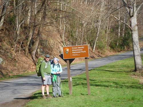 Entering Great Smoky Mountains National Park
