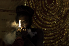 Baba smoking Chillum (tosatori) Tags: light india dark indian smoke smoking holy pot match lit smoker marijuana hindu hash baba chillum babas sadhu 2010 hashish charas mela haridwar uttarpradesh markwilliams kumbhmela sahus kumbh sadhvi hardwar tosatori