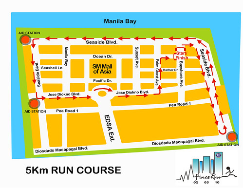 Finex Run 2010 - 5K Race Route