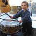 Sammy on drums