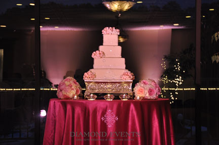 Wedding Cake at Harbour View Event Center Woodbridge, Virginia
