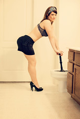 Modern Housewife (GodsEmerald) Tags: silly sexy fun toilet plunger desperatehousewife withlovephotography arizonaboudoirphotography