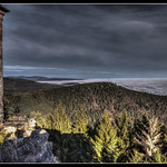View from Mont Sainte-Odile in HDR thumbnail
