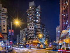 Boundary Street, Hong Kong (mikemikecat) Tags: boundary street 界限街 九龍 hongkong sonya7r a7r mikemikecat sony stacked building colorful blue 建築 建築物 建築結構 基礎建設 城市 夜景 nightscape urban 戶外 h天際線 建築大樓 cityscapes carlzeiss lighttrails vintage nostalgia road fe1635mm sel1635z