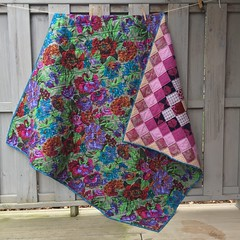 Boston Common Quilt (rosecoloredquilts) Tags: purple quiltback philip jacobs kaffe fassett boston common voile amybutler filigree grid dots texture wovens velveteen