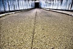 down in it (chipsmitmayo) Tags: blue black yellow contrast high nikon waterfront hole wide sigma bremen 1020mm asphalt unten dri hdr beton tiefgarage einfahrt lightroom grob verlauf d80 soundtracked