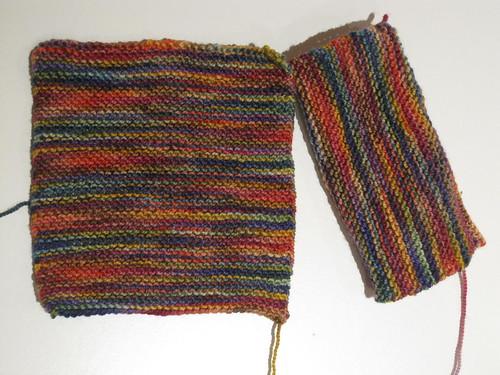 Koigu garter stitch