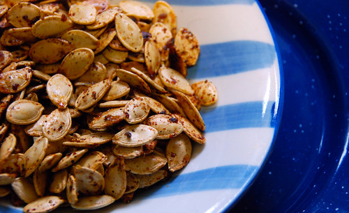 Spicy Sweet Roasted Pumpkin Seeds