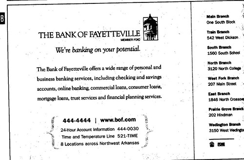 Bank of Fayetteville ad 09