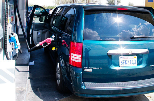 See that reflection? Thats me. I rented this minivan. Photo: Fred Camino