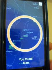 Droid phone - Google Sky Map