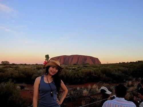 Uluru夕陽Uluru夕陽