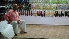 Sandal shop and shopkeeper