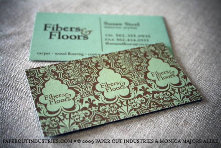 Fibers & Floors Business Cards