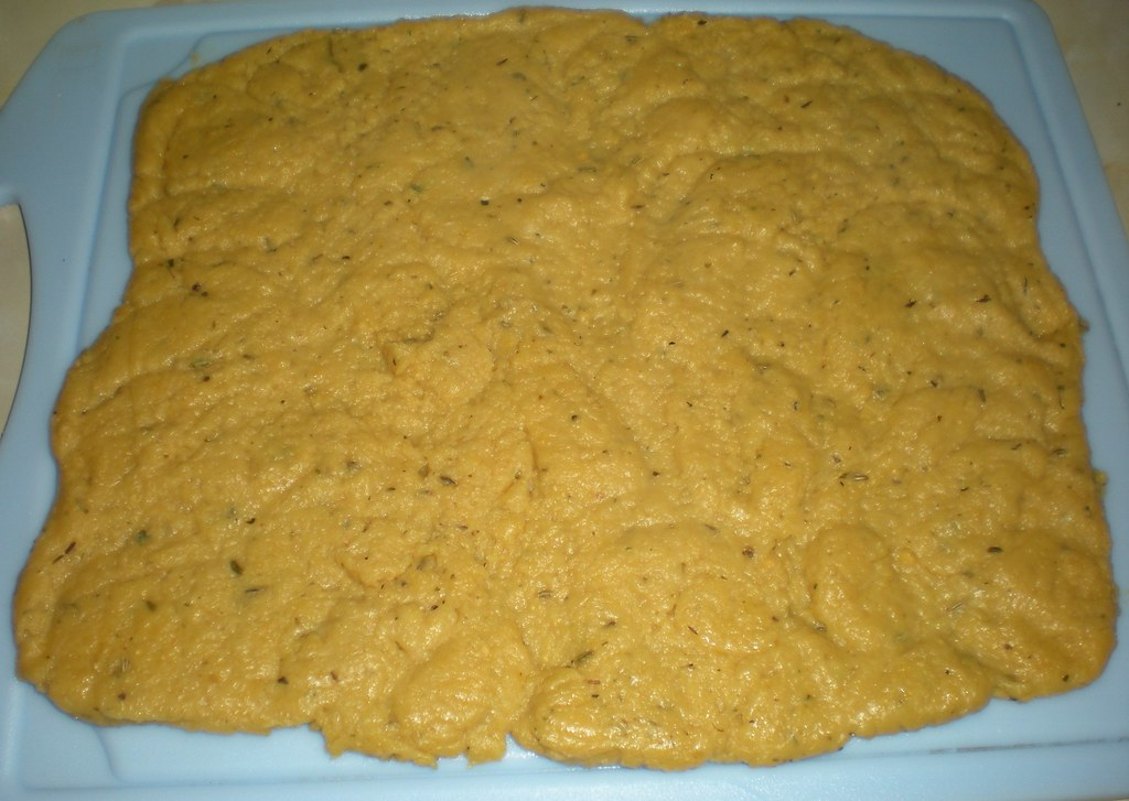 Chick pea dough cooling