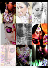 Jewellry Poster (Art Fountain) Tags: face collage poster eyes indian makeup accessories collarge weddingjewellry
