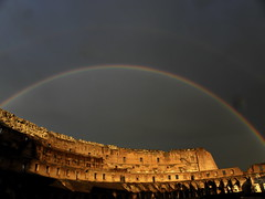 Rainbow at the Colisseum (jjrestrepoa (busy)) Tags: italy rome roma arcoiris rainbow italia coliseo arcobaleno colisseum colosseo