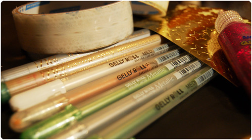 Gelly roll Pens from Sakura (Copyright Hanna Andersson)