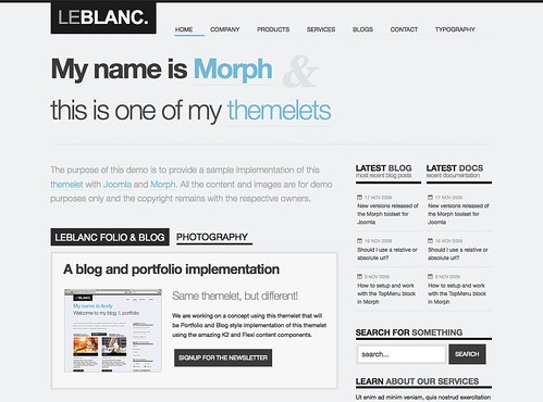 Morph themelet for Joomla