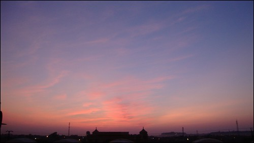 Beautiful evening sky in Jaisalmer